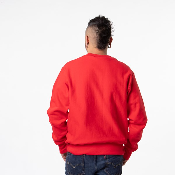 alternate view Mens Champion Reverse Weave Crew Sweatshirt - RedALT1