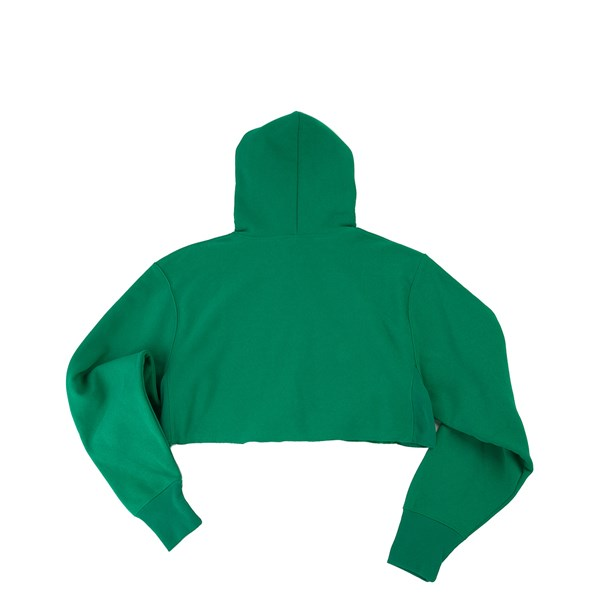 alternate view Womens Champion Reverse Weave Cropped Hoodie - GreenALT1