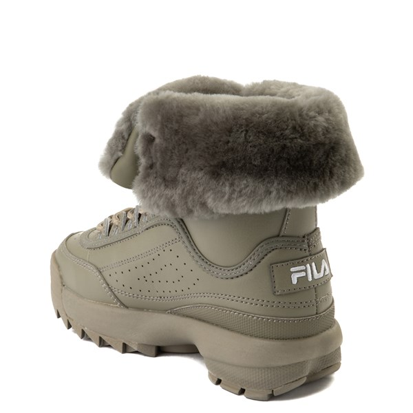 alternate view Fila Disruptor Shearling Boot - Little Kid - OliveALT2