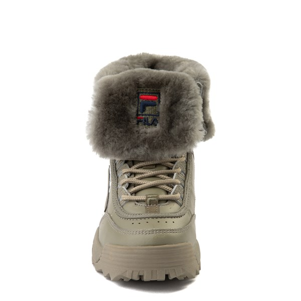 alternate view Fila Disruptor Shearling Boot - Little Kid - OliveALT4