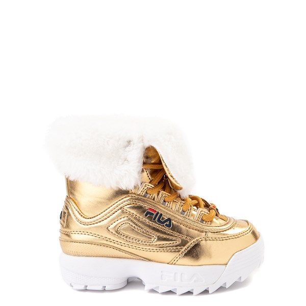 Main view of Fila Disruptor Shearling Boot - Baby / Toddler - Gold