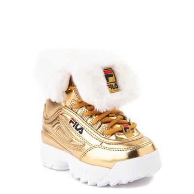 Alternate view of Fila Disruptor Shearling Boot - Baby / Toddler - Gold