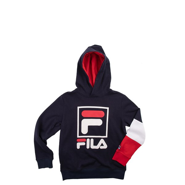 Fila Owen Hoodie - Boys Little Kid - Navy / Red / White