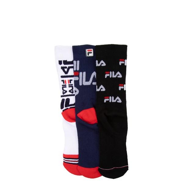 Alternate view of Fila Heritage Crew Socks 3 Pack - Girls Big Kid