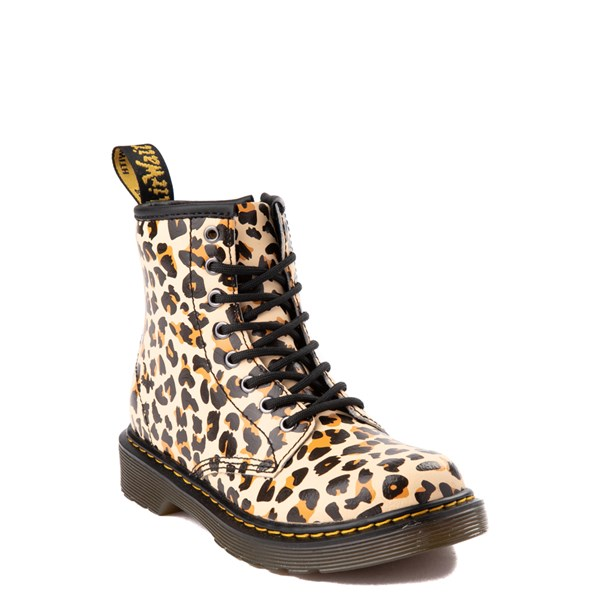 alternate view Dr. Martens 1460 8-Eye Boot - Little Kid / Big Kid - LeopardALT1