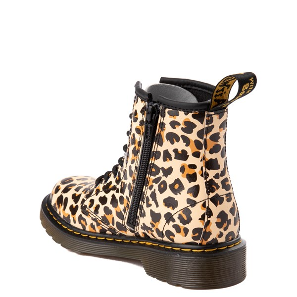 alternate view Dr. Martens 1460 8-Eye Boot - Little Kid / Big Kid - LeopardALT2