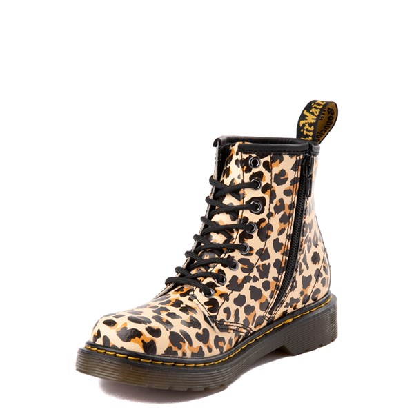alternate view Dr. Martens 1460 8-Eye Boot - Little Kid / Big Kid - LeopardALT3
