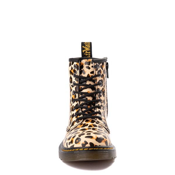 alternate view Dr. Martens 1460 8-Eye Boot - Little Kid / Big Kid - LeopardALT4