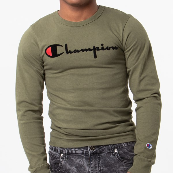 alternate view Mens Champion Heritage Long Sleeve TeeALT4