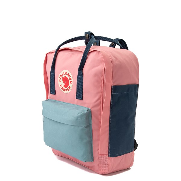 alternate view Fjallraven Kanken Backpack - Pink / Royal Blue / Sky BlueALT2