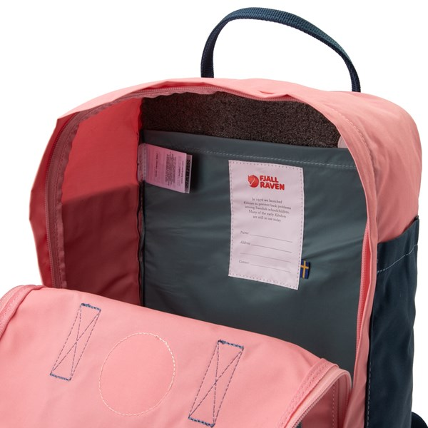 alternate view Fjallraven Kanken Backpack - Pink / Royal Blue / Sky BlueALT3