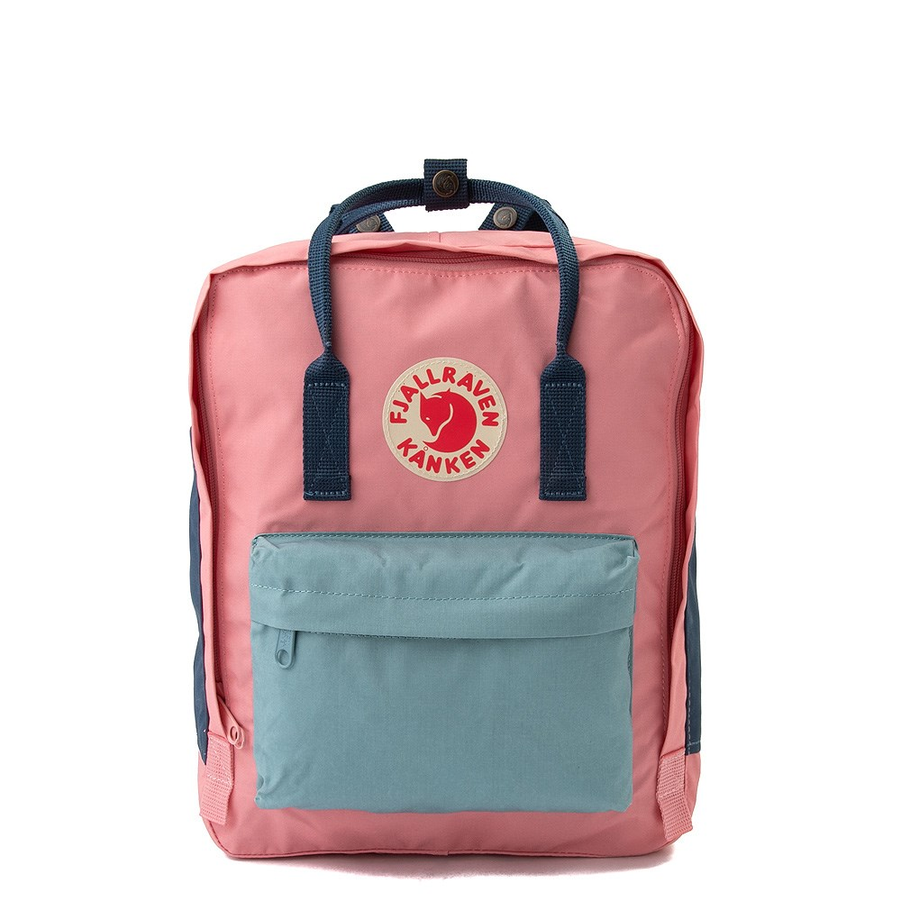 Fjallraven Kanken Backpack - Pink / Royal Blue / Sky Blue