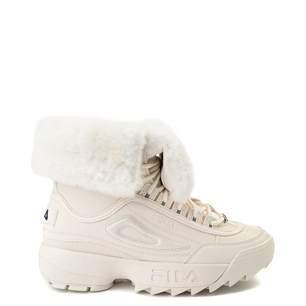 Womens Fila Disruptor Shearling Boot