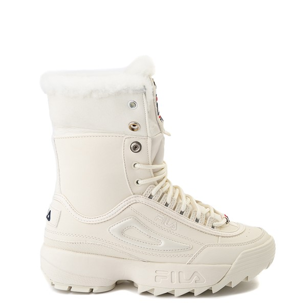 alternate view Womens Fila Disruptor Shearling Boot - GardeniaALT1