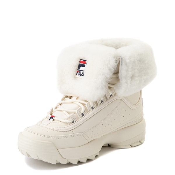 alternate view Womens Fila Disruptor Shearling Boot - GardeniaALT2
