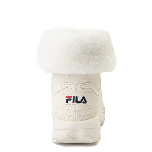 alternate view Womens Fila Disruptor Shearling Boot - GardeniaALT4