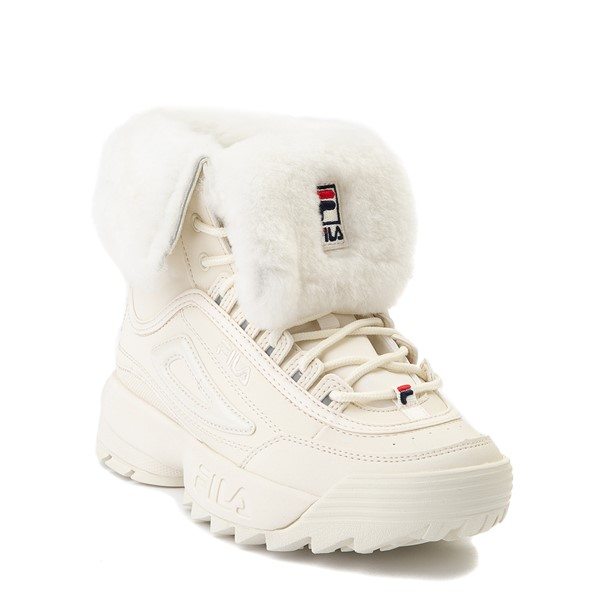 alternate view Womens Fila Disruptor Shearling Boot - GardeniaALT5