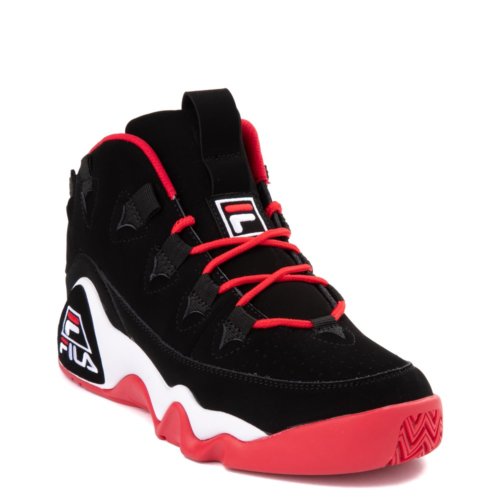 new product super cheap wholesale price Mens Fila Grant Hill 1 Athletic Shoe - Black / White / Red | Journeys