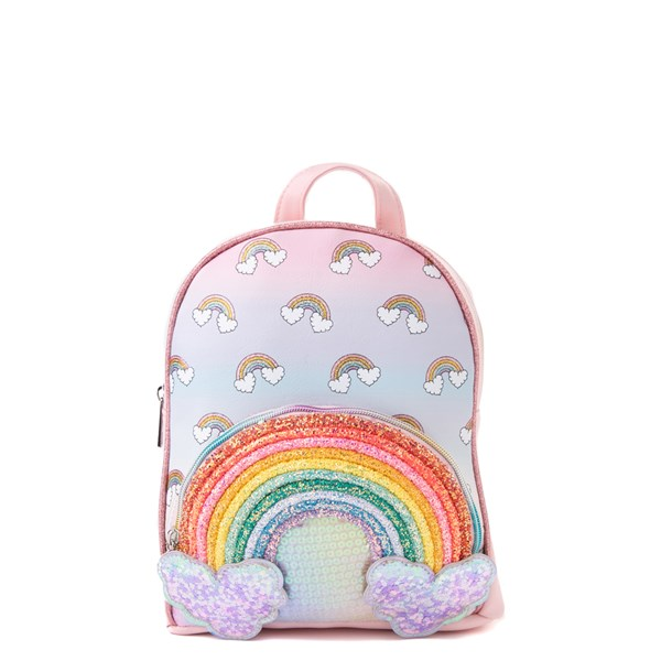 Main view of Rainbow Sequin Mini Backpack - Pink