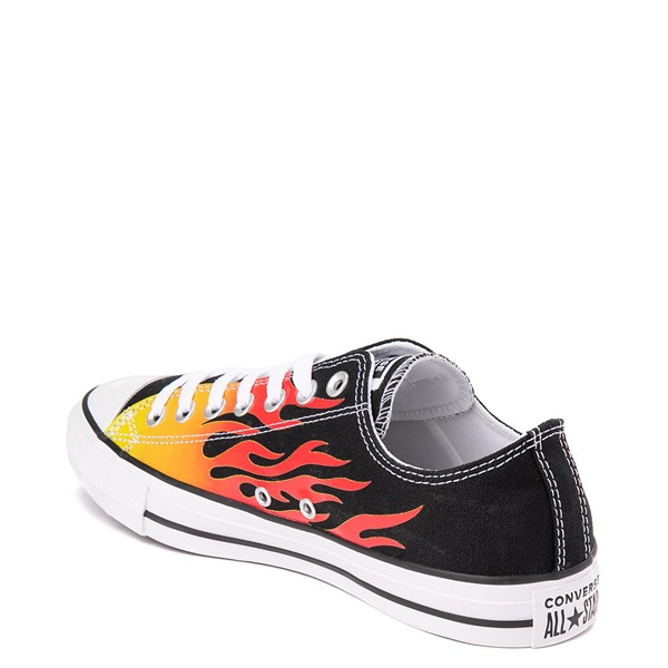 alternate view Converse Chuck Taylor All Star Lo Flames Sneaker - BlackALT1
