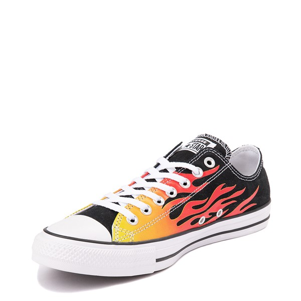 alternate view Converse Chuck Taylor All Star Lo Flames Sneaker - BlackALT2