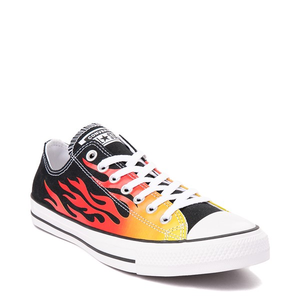 alternate view Converse Chuck Taylor All Star Lo Flames Sneaker - BlackALT5