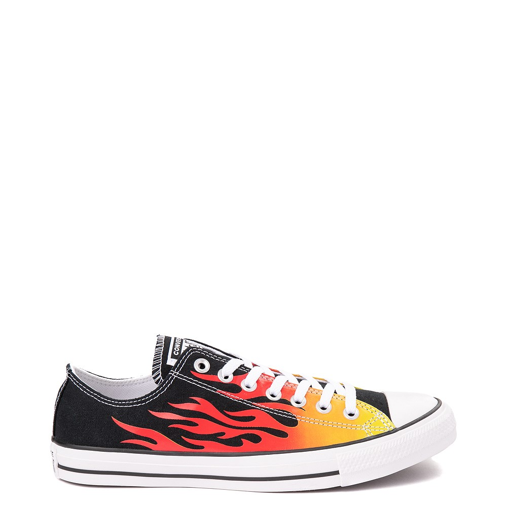 Converse Chuck Taylor All Star Lo Flames Sneaker - Black