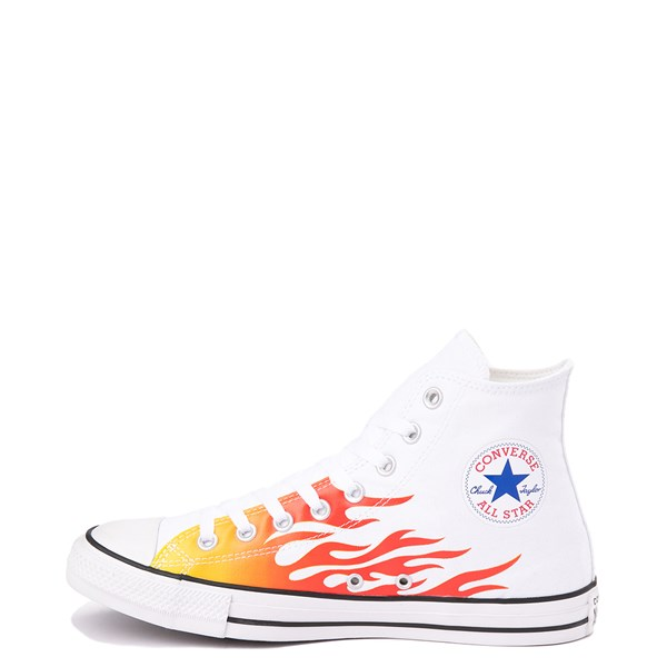 alternate view Converse Chuck Taylor All Star Hi Flames Sneaker - WhiteALT1