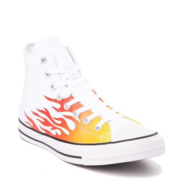 alternate view Converse Chuck Taylor All Star Hi Flames Sneaker - WhiteALT1B