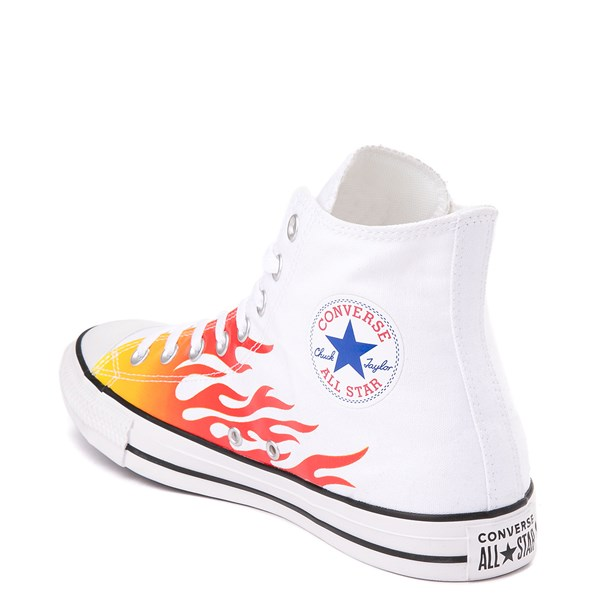 alternate view Converse Chuck Taylor All Star Hi Flames Sneaker - WhiteALT2