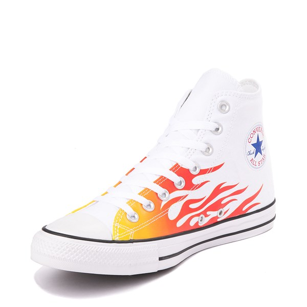 alternate view Converse Chuck Taylor All Star Hi Flames Sneaker - WhiteALT3