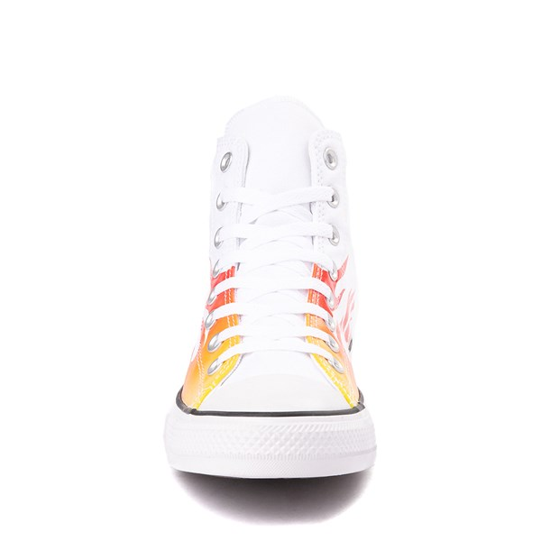 alternate view Converse Chuck Taylor All Star Hi Flames Sneaker - WhiteALT4