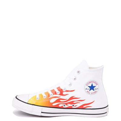 Alternate view of Converse Chuck Taylor All Star Hi Flames Sneaker - White