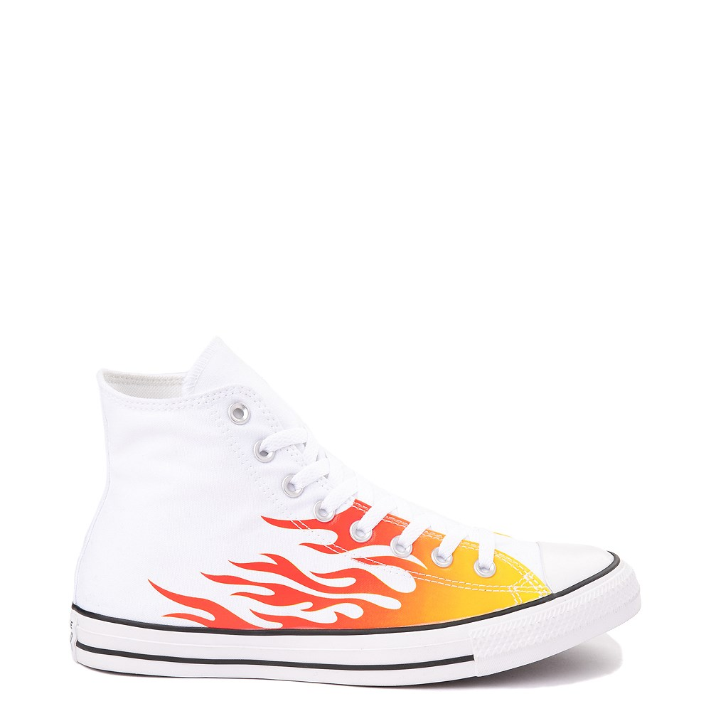Converse Chuck Taylor All Star Hi Flames Sneaker - White