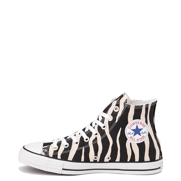 Alternate view of Converse Chuck Taylor All Star Hi Zebra Sneaker - Black / White