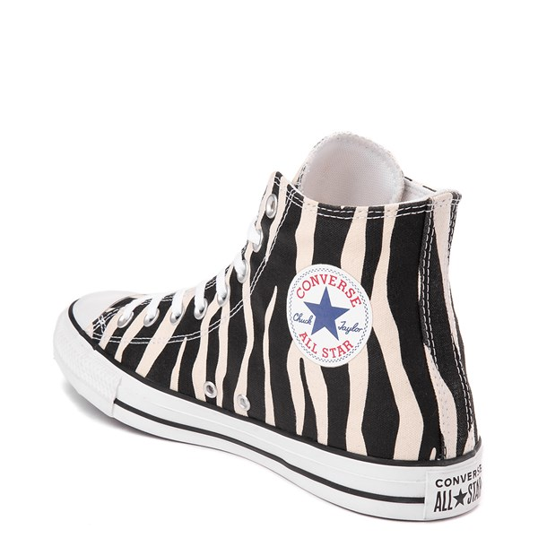 alternate view Converse Chuck Taylor All Star Hi Zebra Sneaker - Black / WhiteALT2