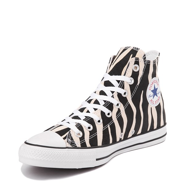 alternate view Converse Chuck Taylor All Star Hi Zebra Sneaker - Black / WhiteALT3