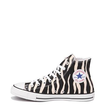 Alternate view of Converse Chuck Taylor All Star Hi Zebra Sneaker - Black / White