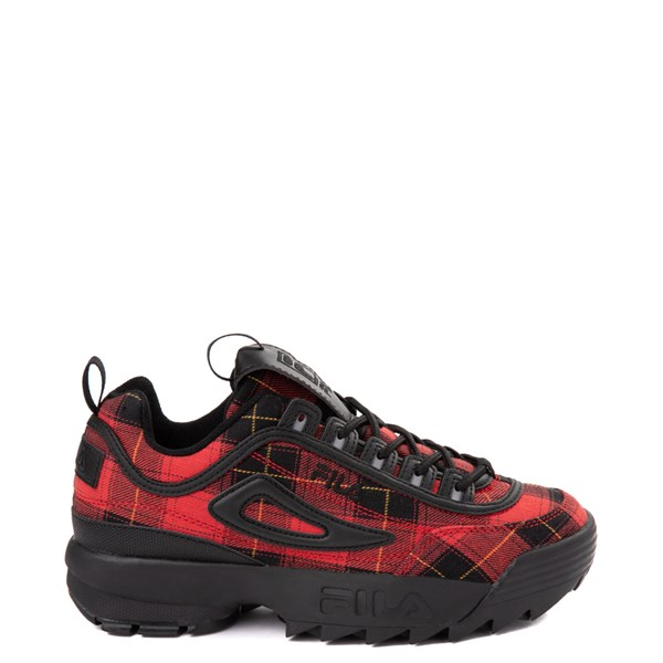 Womens Fila Disruptor 2 Premium Athletic Shoe - Black / Red