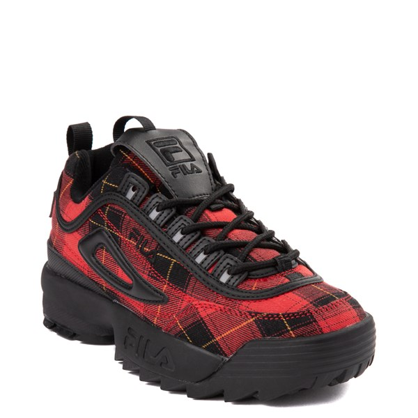 alternate view Womens Fila Disruptor 2 Premium Athletic Shoe - Black / RedALT1