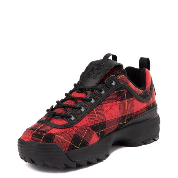 alternate view Womens Fila Disruptor 2 Premium Athletic Shoe - Black / RedALT3