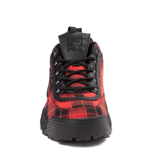 alternate view Womens Fila Disruptor 2 Premium Athletic Shoe - Black / RedALT4
