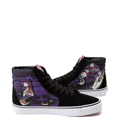 Alternate view of Vans x The Nightmare Before Christmas Sk8 Hi Jack's Lament Skate Shoe - Black / Multi