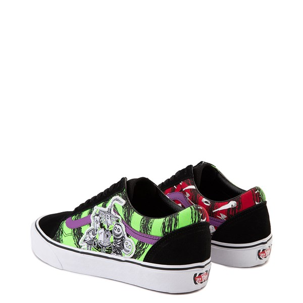 alternate view Vans x The Nightmare Before Christmas Old Skool Lock, Shock, and Barrel Skate Shoe - Black / Green / RedALT2