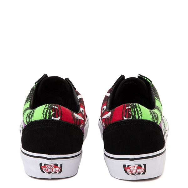 alternate view Vans x The Nightmare Before Christmas Old Skool Lock, Shock, and Barrel Skate Shoe - Black / Green / RedALT6