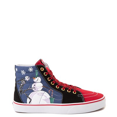 Main view of Vans x The Nightmare Before Christmas Sk8 Hi Christmas Town Skate Shoe - Red / Multi