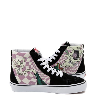 Alternate view of Vans x The Nightmare Before Christmas Sk8 Hi Sally's Potion Skate Shoe - Black