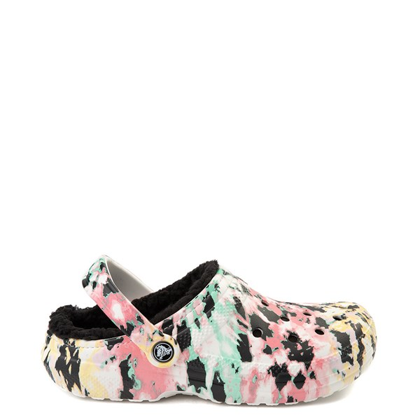 Main view of Crocs Classic Fuzz-Lined Tie Dye Clog - Multi