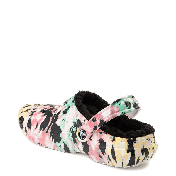alternate view Crocs Classic Fuzz-Lined Tie Dye Clog - MultiALT2