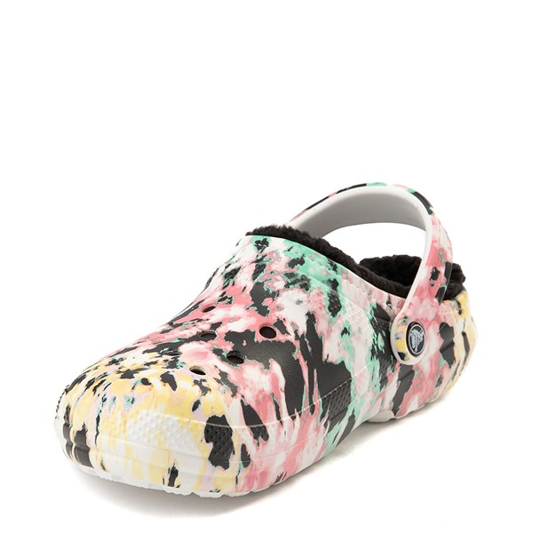 alternate view Crocs Classic Fuzz-Lined Tie Dye Clog - MultiALT3